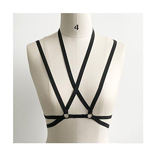 Add Health Damen Pentagramm Harness Strappy Geschirr Pentagramm Knechtschaft BH 105 Black