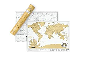 Luckies Scratch Map Travel Edition Mappa, Carta, Multicolore