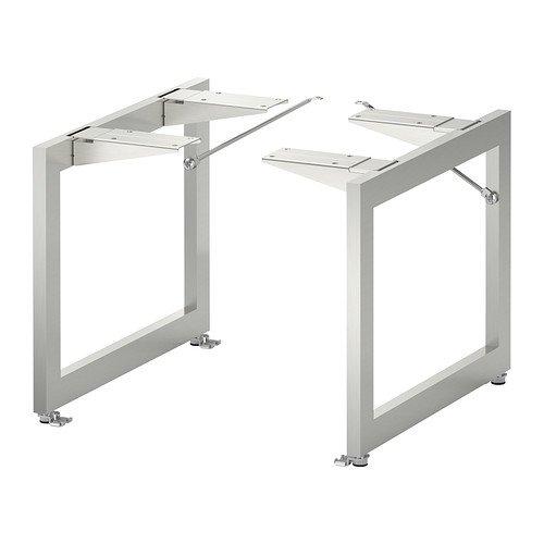 IKEA LIMHAMN Bein Stützbein Möbelbein Tischbein Tischbock 28x35cm weiß METOD Küche