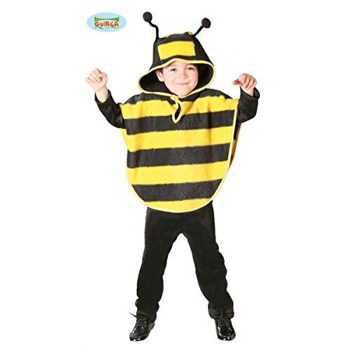 (Biene Kostüm Cape für Kinder Gr. 98 - 116, Größe:98/104)