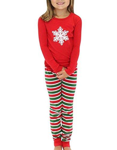 ten Stripes Familie Matching Pyjamas Sets für die Familie Kinder grün 2T ()