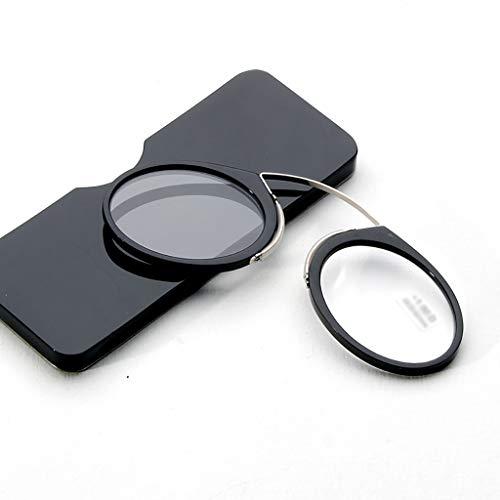 Lesebrille Style Nasenclip Kreditkarten, Mini Unisex Nose Resting Pinching Koffer 1,5 2,5