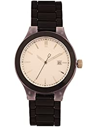 KMS White Round Dial Stylish Unisex Analog Watch