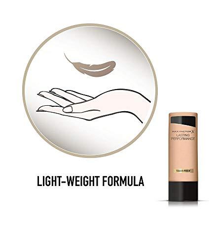 Max Factor Lasting Performance Fondotinta Liquido, Alta Coprenza, Finish Matte e Lunga Durata, 109 Natural Bronze, 35 ml