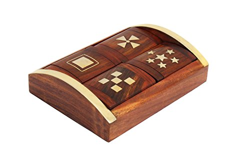 Store Indya Jewellery Box Unique Four Piece Wood & Brass Box Along...