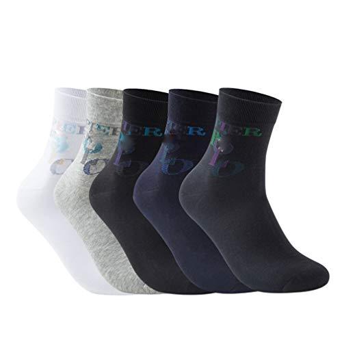 Selling Herren Sportsocken (5 Stück), Herren-Deo-Socken, Herren-Low-Socken, antibakterielle und desodorierende Business-Herrensocken Wild Cotton Socks