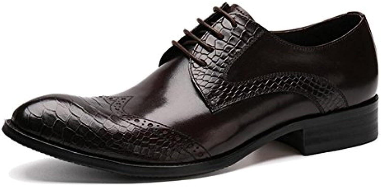 SHIXRAN Uomini Oxford Brogue Nuove Nuove Nuove scarpe a punta Scarpe da uomo in pelle da uomo Scarpe in cuoio genuino (Coloreee... | Nuovi Prodotti  5ba65a