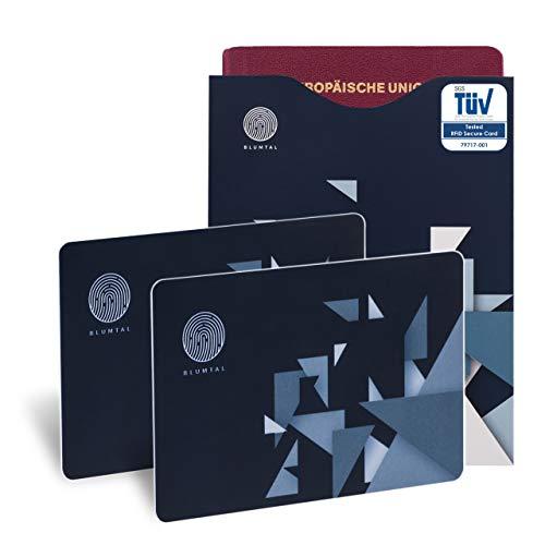 Ausweishüllen Sanft 3er Set Rfid Schutzhülle Nfc Ec Kredit-karte Datenschutz Blocker Schutz Hülle Spezieller Kauf