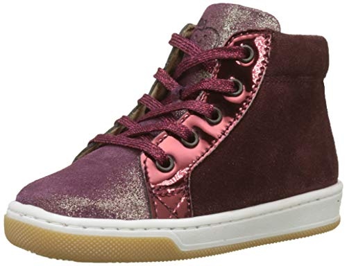 SHOO POM Baby Mädchen Dude Rabbit Sneaker, Rot M104BZMASCARA/METAL Berry Gold, 24 EU