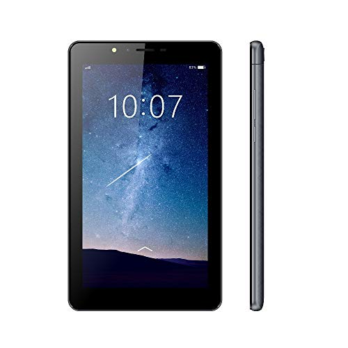 ibowin® 7 Pulgadas Android Oreo 8.1OS 1G RAM 16G ROM 3G Movil Tablet PC 1024x600 IPS Resolución gsm Certificated 3G WCDMA y 2G gsm WiFi + Cellular + AGPS Dual SIM Tarjeta - Negro