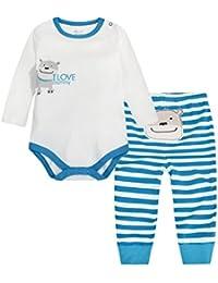 Vine bebes ropa para bebés nacido Romper ropa muñeca largos ropa de niño de la manga Body+pantalones