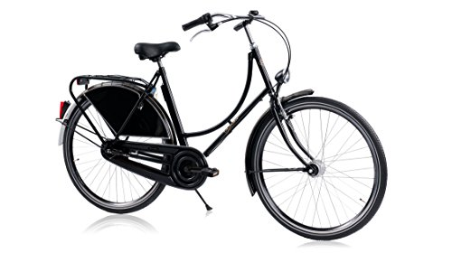 Hollander, das Hollandrad Original und einzigartig, schwarz glänzend, 3-Gang Shimano, Höhe von Rahmen 50cm