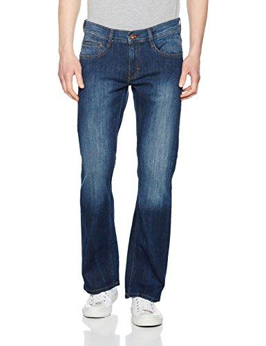 Mustang Oregon Boot Jeans Bootcut Uomo Blu 31W x 30L