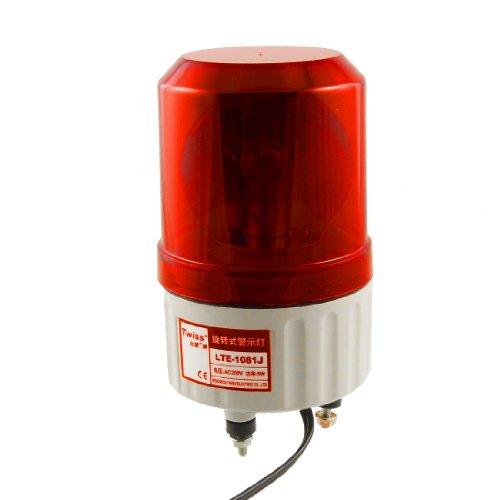 sourcingmap AC220V Industrie Rot LED Stroboskop Blinken Signal Turm Alarm Licht Lampe 90dB