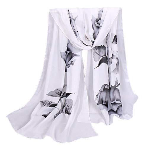 YEARNLY Strandtuch Chiffon Bedrucktes Rose Strandtuch Schnell trocknend Slim Sunscreen Anti UV Beach Towel Strandtuch Schal 9Farben 160x50CM - Slim-schal