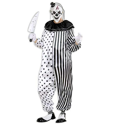 24costumes Clown Kostüm Overall mit Maske: Größe: - Chucky Overall Kostüm