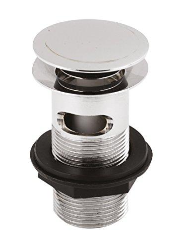 Hudson Reed Abfluss Push-Button Technologie, Ausguss für Waschbecken und Waschtische, Chrom Ablauf (Plug Ultra-drain)