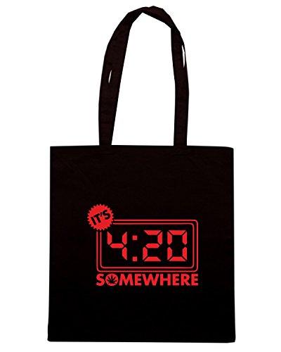 T-Shirtshock - Borsa Shopping FUN0091 04 20 2014 Its 420 Somewhere T SHIRT det Nero