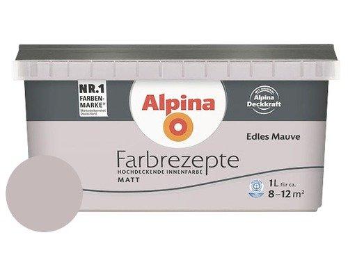 ALPINA Farbrezepte EDLES MAUVE 1 Liter für ca. 8-12 m² Farbe Wandfarbe MATT
