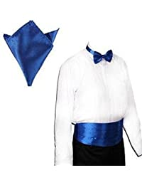 L&C®New Italian Satin Cummerbund and Bow Tie and Hanky Set 30 Colors Event Gift