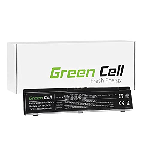 Green Cell® Standard Serie Laptop Akku für Samsung N310 (6 Zellen 6600mAh 7.4V Schwarz)