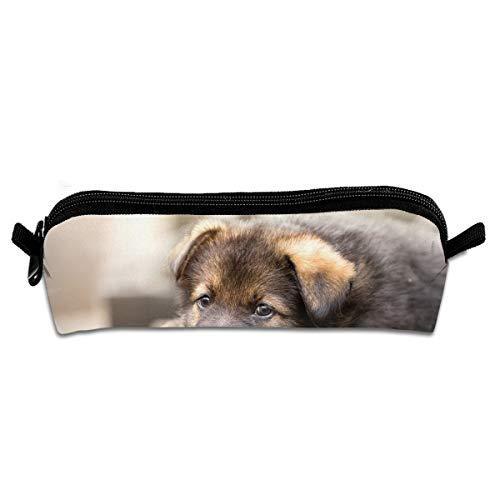 Pengyong Federmäppchen mit Reißverschluss, Motiv Deutscher Schäferhund, kleine Kosmetiktasche, Make-up-Tasche für Kinder, Jugendliche und andere Schulutensilien -