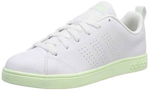 Adidas VS Advantage Cl, Zapatillas para Hombre, Blanco (Footwear White/Footwear White/Green 0), 36 EU amazon-shoes el-azul Cordones