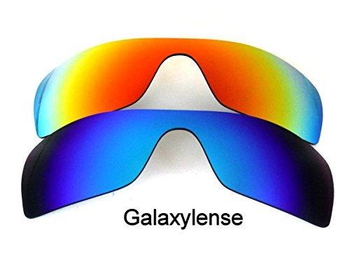 Galaxis Ersatzgläser für Oakley Batwolf Blau & Rot Farbe Polarisiert 2 Paar,GRATIS S & H - Blau & Rot 2 Paar, Regulär