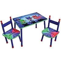 Preisvergleich für Unbekannt Fun House pyjamasques Tisch mit 2Stühle für Kinder, MDF/Metall, 60x 40x 44cm