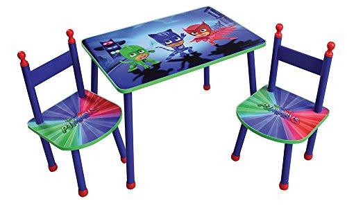 Fun House 712918 PYJAMASQUES Table avec 2 Chaises pour Enfant MDF/Métal 60 x 40 x 44 cm