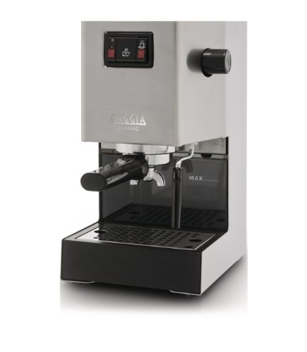 Philips Gaggia Classic RI8161 Coffee Machine with Professional Filter Holder - Stainless Steel Body