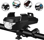 BePrincess USB Rechargeable Bike Headlight Waterproof Cycling Light, Bike Phone Mount Holder, Bike Horn and Po