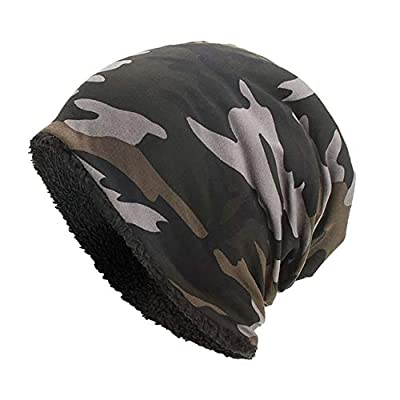 SuperSU Frauen Männer Warme Baggy Camouflage Crochet Winter Wolle Ski Beanie Schädel Caps Hut Slouch Beanie Wasserdichte Vintage Washed Look Atmungsaktive Mütze mit Batik Muster