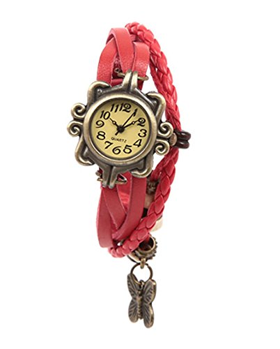 Mango People Stylish Red Vintage Watch For Women  available at amazon for Rs.98