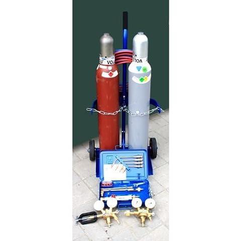 Autogenschweißgerät 10/10 komplett mit Flaschen Druckregler Brennerkasten