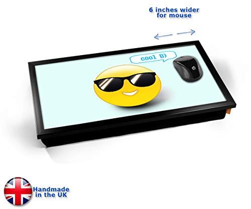 Cool Emoticon Emoji Cushioned Bean Bag Laptop Lap Tray Desk - Built-in EMF Shield (Electro Magnetic...