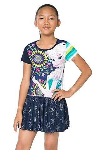 Desigual Mädchen Kleid HUGS, Gr. 152 (Herstellergröße: 11/12), Blau (NAVY 5000)