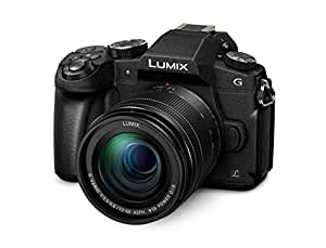 Panasonic DMC-G81MEG-K Lumix G Systemkamera (16 MP, 4K Foto-Video, Dual I.S. Bildstabilisator, OLED-Sucher, Hybrid Kontrast AF, 7,5 cm Touchscreen, WiFi) mit Objektiv H-FS12060/F3,5-5,6/ OIS schwarz