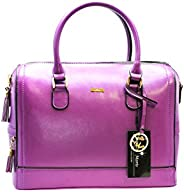 Stella Maris Woman Diamond Handbag with detachable shoulder strap and removable pocket organizer, Violet, 32 c
