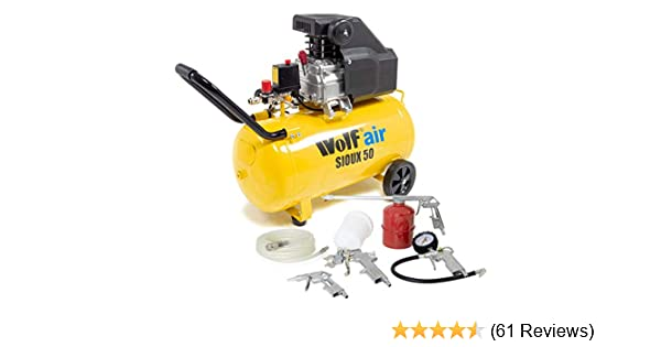 Wolf Portable 100 Litre Air Compressor 8BAR 2.5HP 116psi 9.6CFM Includes 13pc Air Tool Kit 2 Years Warranty