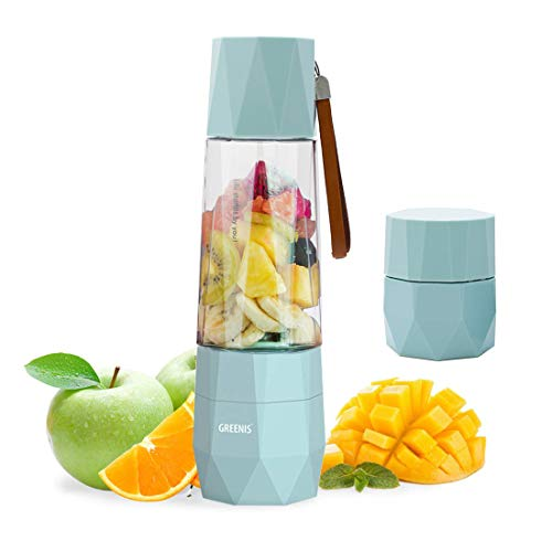 Mini Frullatore Tritan Senza BPA Frullatore Portatile USB Ricaricabile Con Coperchio Sottovuoto Anti Ossidazione per Frullati Frutta e Verdura Sport