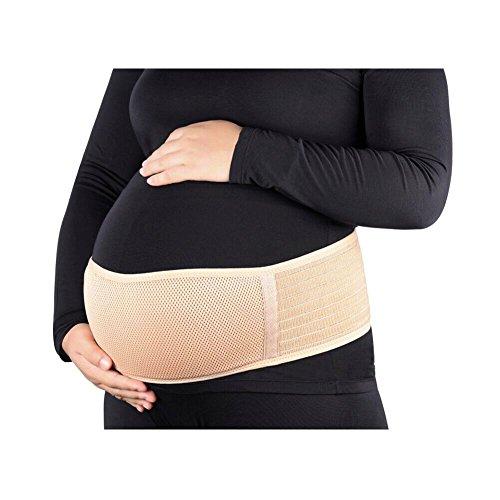 Tirain Fajas de Embarazo Premamá Transpirable Cómodo Cinturón del Vientre de Soporte Pélvico para Evitar Dolor Espalda (Beige)