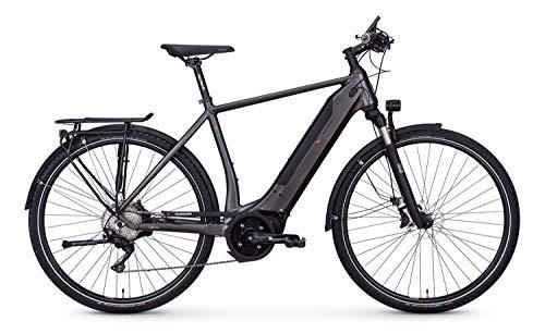 """e-bike manufaktur 13ZEHN Disc Shimano Deore XT 10-G Continental Elektro Fahrrad 2019 (28\"""" Herren Diamant 55cm, Rauchgrau matt Herren)"""