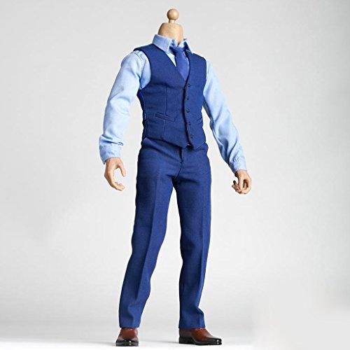 sharprepublic 06.01 Männliche Muskelfigur Körper W / Hände Schuhe Kleidungssatz Für Heiße Spielzeug Zc Spielzeug