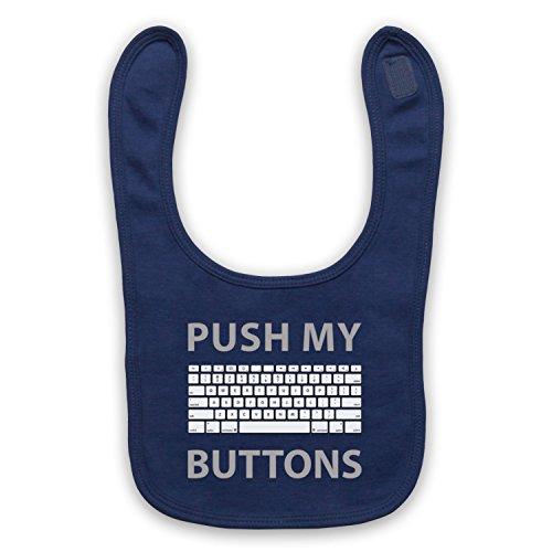 Push My Buttons Computer Geek Baby Latzchen, Ultramarinblau Nb-computer