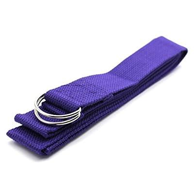 Huayang D Ring Yoga Pilates Gurtband Band Equipment Taille Leg Übung Fitness Abbildung Props (lila)