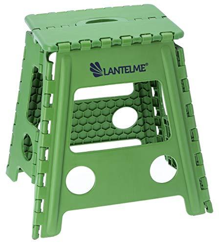 Lantelme Klapphocker faltbar Kunststoff Hocker Farbe grün Sitzhocker Angelhocker Sitzhöhe 40cm tragbar Outdoor 4794 -