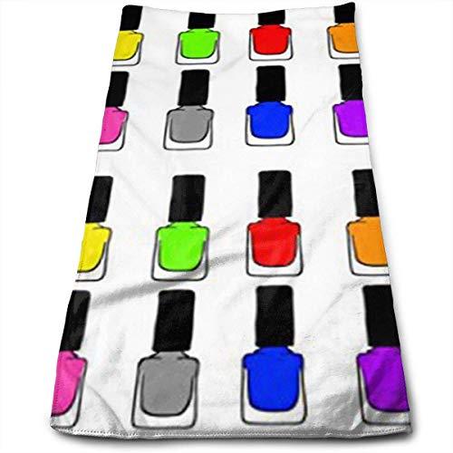 BAOQIN Long-Lasting Quality,Quickly Absorbs Moisture Stylish Handtuch Rainbow Nail Polish 100% Cotton Handtuchs Ultra Soft & Absorbent Bathroom Handtuchs - Great Shower Handtuchs, Hotel Handtuchs & G