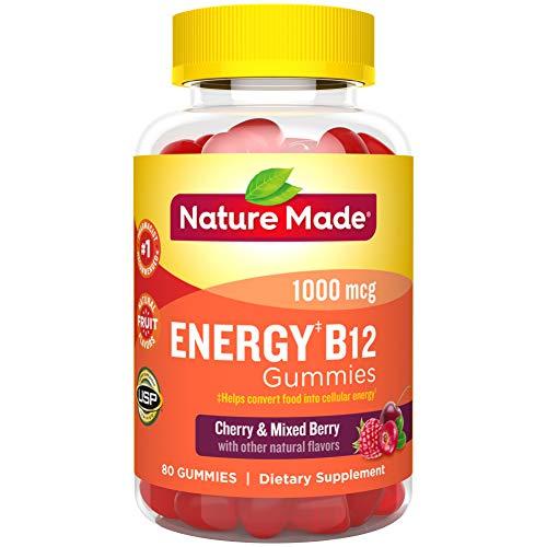 Nature Made Energy B-12 Adult Gummies Cherry & Wild Berries -- 80 Gummies by Nature Made