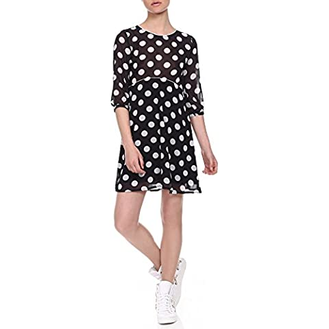 RED Isabel mujer Alstroemeria Polka-dotted Empire Chiffon Dress
